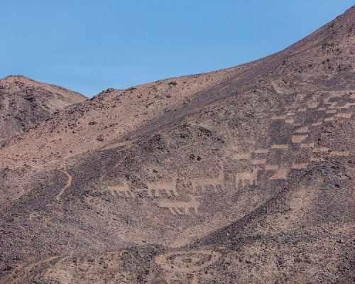 Cerros Pintados Geoglyphs, Pampa del Tamarugal